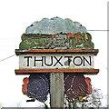 TG0307 : Thuxton village sign by Adrian S Pye