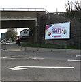 SS9080 : Sky Broadband advert on a Derwen Road wall, Bridgend by Jaggery
