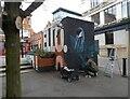 SJ8498 : Street artist at work by Gerald England