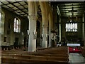 SE1942 : St Oswald's church, Guiseley - north nave by Stephen Craven