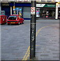 ST3188 : No Cycling sign on a Market Street lamppost, Newport by Jaggery