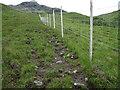 NG7808 : Deer fence towards Beinn na Caillich by Chris Wimbush