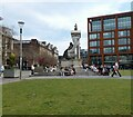 SJ8498 : Queen Victoria at Piccadilly Gardens by Gerald England