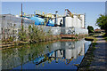 SO9591 : Canalside chemical works near Tipton, Sandwell by Roger  Kidd