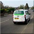 ST0080 : R&M Williams white van 43, Addison Avenue, Llanharry by Jaggery