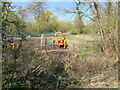 TQ0587 : Preparing track for HS2 pylon removal by David Hawgood