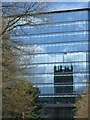 SJ8398 : Manchester Cathedral reflected by Gerald England