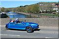 SO0428 : Unusual car on Usk Bridge by M J Roscoe