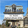 TF5911 : Wiggenhall St Mary Magdalen village sign by Adrian S Pye