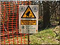 NT2340 : Forestry warning sign, Jedderfield by Jim Barton