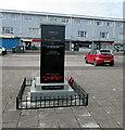 ST0080 : Dedications on Llanharry War Memorial by Jaggery