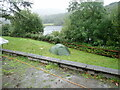 NN0776 : Wee tent at Linnhe Lochside Holiday park by Eirian Evans