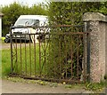 NS5270 : Wrought iron gate by Richard Sutcliffe