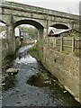 SE0125 : Mytholmroyd railway viaduct - central span by Stephen Craven