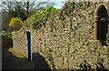 SX9264 : Door and pipe, Wellswood Path by Derek Harper