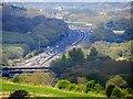 SU1881 : M4 motorway, Badbury Wick, Wiltshire by Brian Robert Marshall