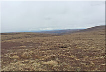 NH7618 : Views North Carn nan Luibean Glas, wind farm in distance by thejackrustles