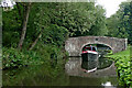 SO8480 : Canal at Austcliffe Bridge near Caunsall, Worcestershire by Roger  Kidd