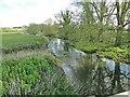 TM2885 : River Waveney downstream from Homersfield roadbridge by Adrian S Pye