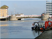 TG5207 : Haven Bridge at Great Yarmouth from the South Quay by Adrian S Pye