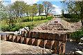 H5371 : Temporary sheet piles, Bancran / Bracky by Kenneth  Allen