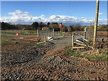 SP2874 : HS2 enabling works, Crackley-Burton Green, March 2021 (10) by Robin Stott