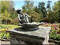 NS3478 : Bird bath, Geilston Garden by Richard Sutcliffe