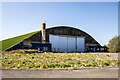 ST8981 : WWII Wiltshire: RAF Hullavington - 'E' site type L hangar (1) by Mike Searle