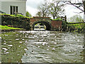 TM2885 : Tailrace and millpond Homersfield watermill (remains) by Adrian S Pye