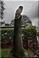 SJ7436 : Wood Carved Owl, Ashley Heath by Brian Deegan