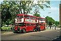 TQ1781 : London Transport RT buses at Ealing Broadway terminus – 1974 by Alan Murray-Rust