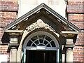 SO7746 : Pediment on Malvern Hills College by Philip Halling