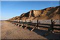 TG1843 : Revetments near West Runton by Hugh Venables