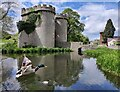SJ3231 : Gatehouse and moat at Whittington Castle by Mat Fascione