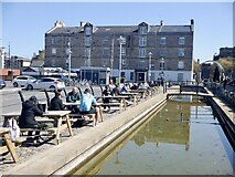 NT2676 : Outdoor tables, Commercial Quay by Richard Webb