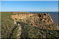 TG2739 : Coastal erosion near Trimingham by Hugh Venables