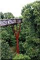 TQ1876 : The Xstrata Treetop Walkway - a support column, Kew Gardens by Martin Tester