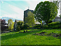 SE1126 : A little park, and St Matthew's Church, Northowram by Humphrey Bolton