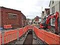 SO9496 : Arthur Street Bridge works by Gordon Griffiths