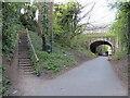 NZ8910 : Former railway path, Whitby by Malc McDonald