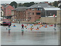 SX9291 : Water sports in the canal basin, Exeter by Chris Allen