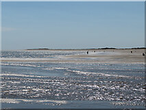 SS4499 : Burry Port beach at low tide, looking west by Gareth James