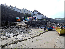 SW7818 : The harbour at low tide, Coverack by habiloid