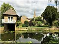 TL2470 : Riverside back garden in Godmanchester by Richard Humphrey