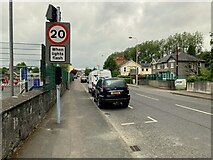 H4572 : 20mph flashing warning sign, Omagh by Kenneth  Allen