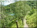 SO7638 : Steep path by Gullet Quarry, Malvern Hills by Chris Allen