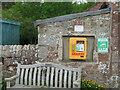 NT1865 : Defibrillator at Harlaw by M J Richardson