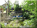 TQ0585 : Houses with gardens by Fray's River, Uxbridge by David Hawgood