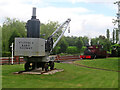 SK2406 : Statfold Barn Railway - steam crane by Chris Hodrien