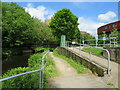 SE1416 : Canal towpath, Huddersfield by Malc McDonald